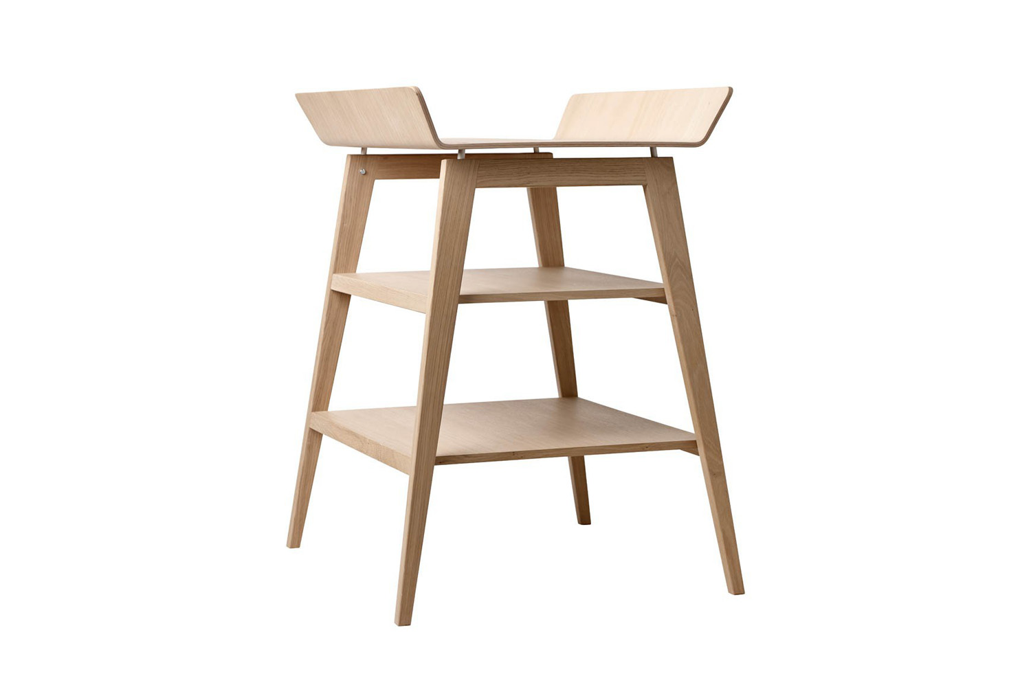 the leander linéa changing table in oak is \$483 at smallable. 13
