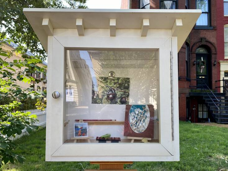 This little free art gallery was installed on Capitol Hill in Washington, DC. Photograph by Joe Flood via Flickr.