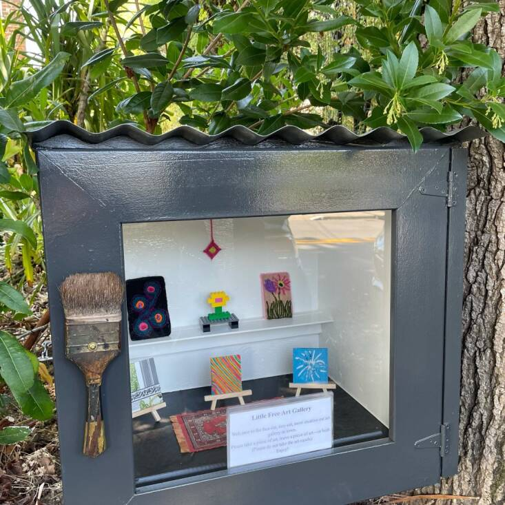 My very own box of art in Mill Valley, California. You can follow @littlefreeartgallery_mv for updates.