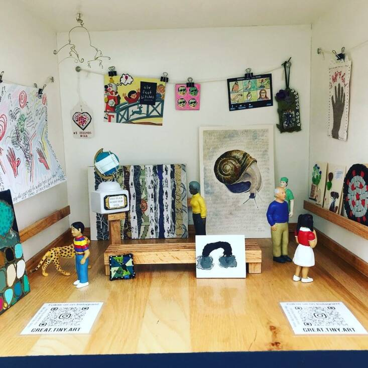 I participated in this Little Free Art Gallery in Berkeley, California, built by neighbors Susie Wallenstein and Noémie Hansen. Go to @great.tiny.art on Instagram to see more from this miniature gallery.