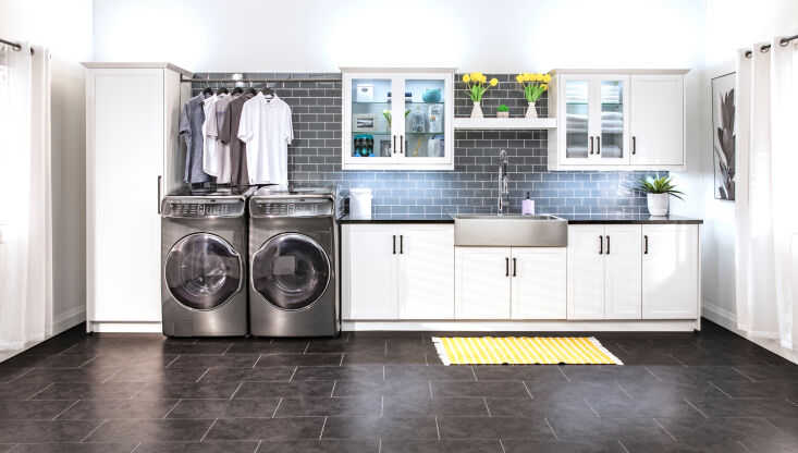 above: a newly streamlined, super functional utility room transformed with newa 10