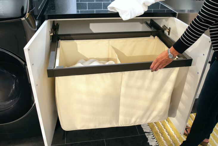 above: no more unsightly overflowing laundry bins: newage's pull out hamper b 13