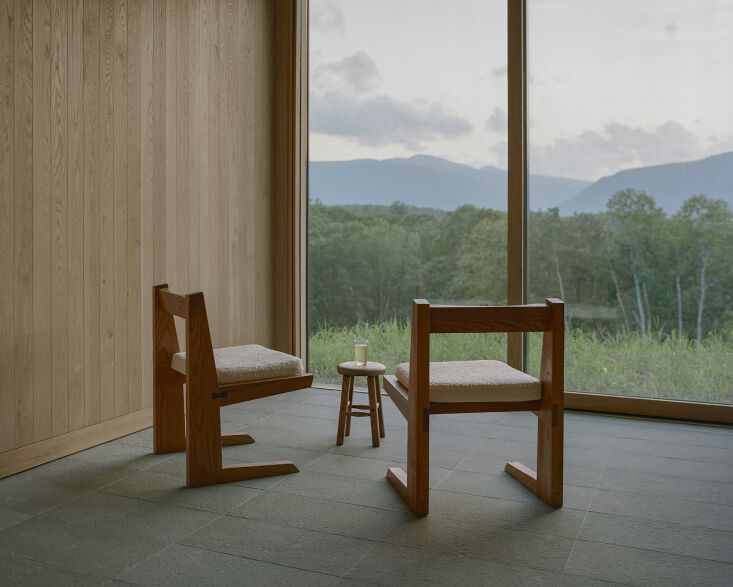 There&#8\2\17;s a new inn in the Catskills this summer: Piaule is a &#8\2\20;landscape hotel&#8\2\2\1; that prioritizes the natural environment. Photography by Sean Davidson, courtesy of Piaule, from Piaule Catskill: A New 'Landscape Hotel' Inspired by Transcendentalism.