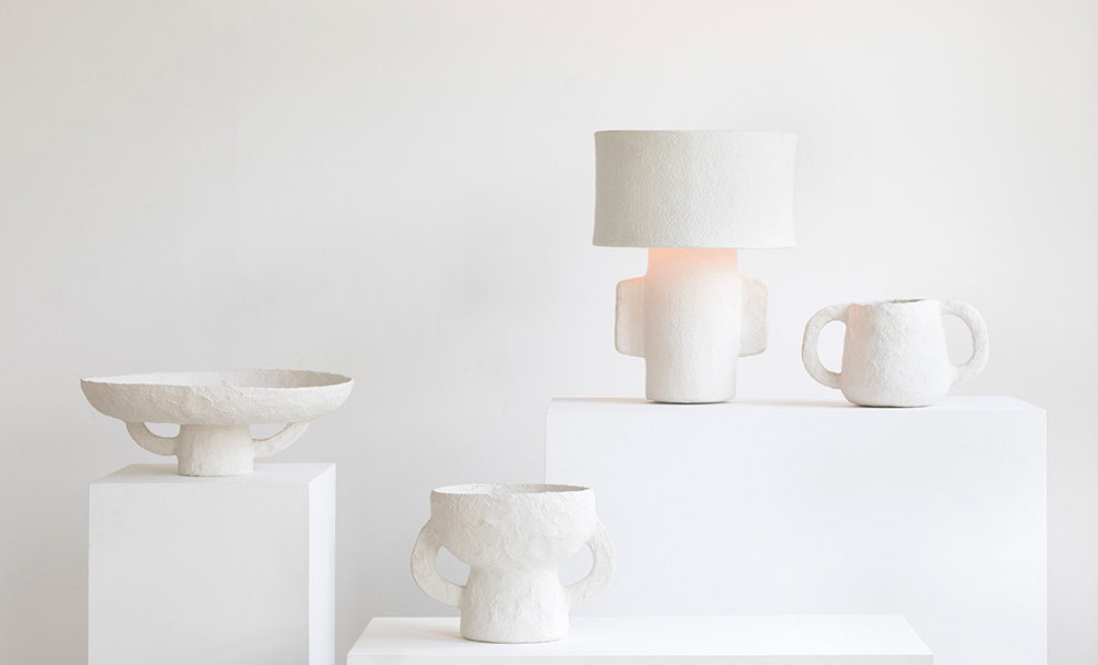 Papier Mache Accessories and Lighting for the Home: a Trend Alert