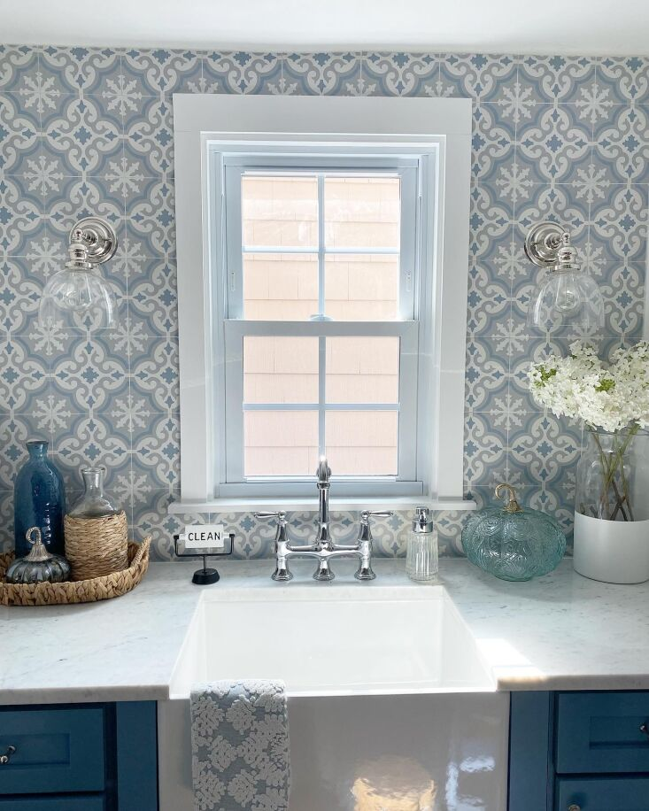 """above: """"i didn&#8\2\17;t use a farmhouse sink in my kitchen renovation an 12"""