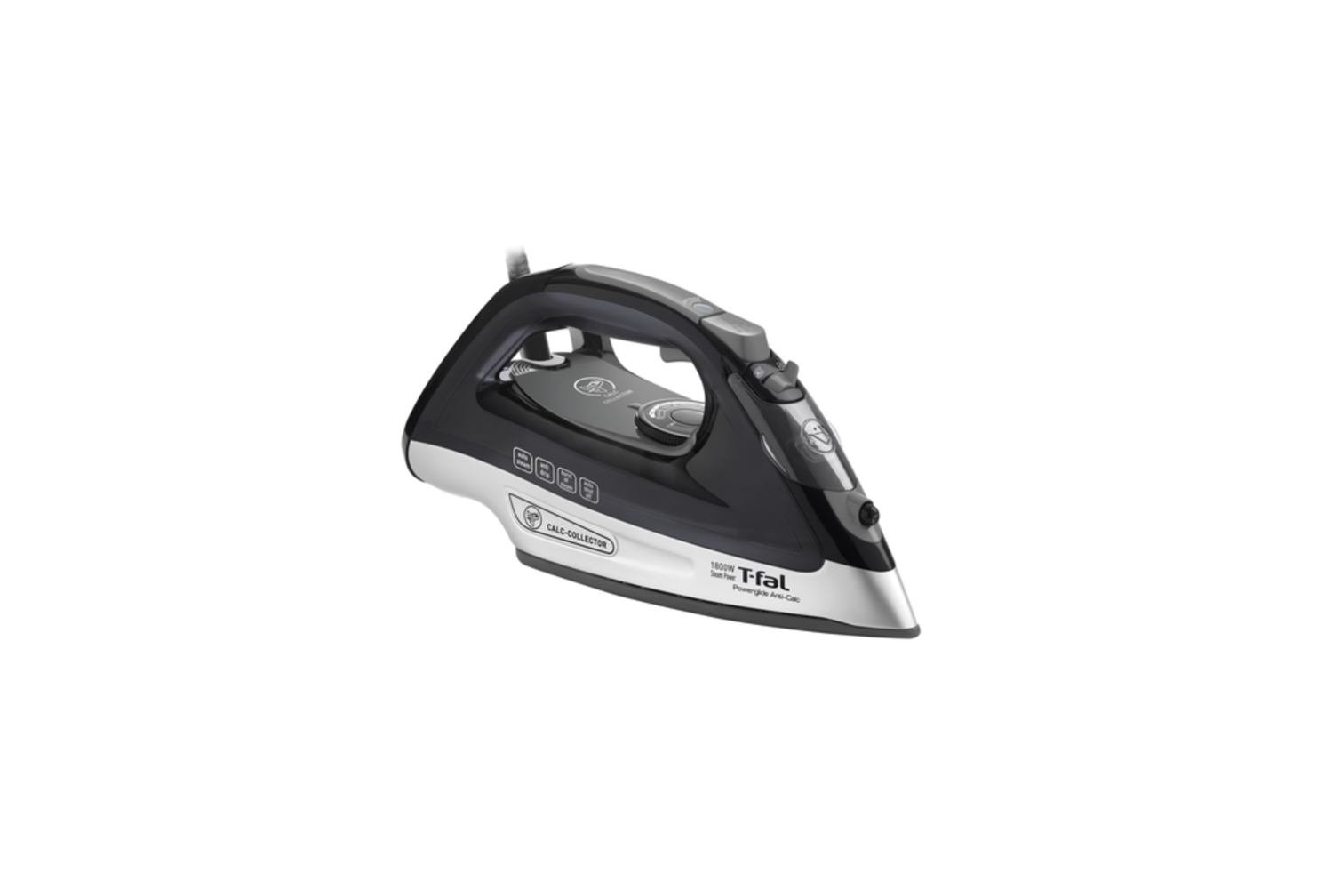 the t fal powerglide steam iron captures calc particles for a clean and fast cl 11