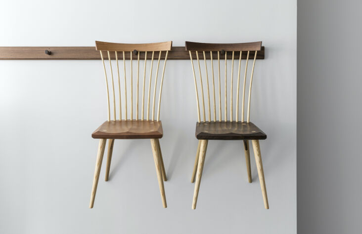 a pair of eastward side chairs (from \$975 each)—inspired by beauty in utilit 12
