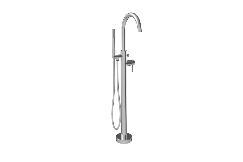 the a&e bath & shower milan round spout freestanding tub faucet (fstf 0 9
