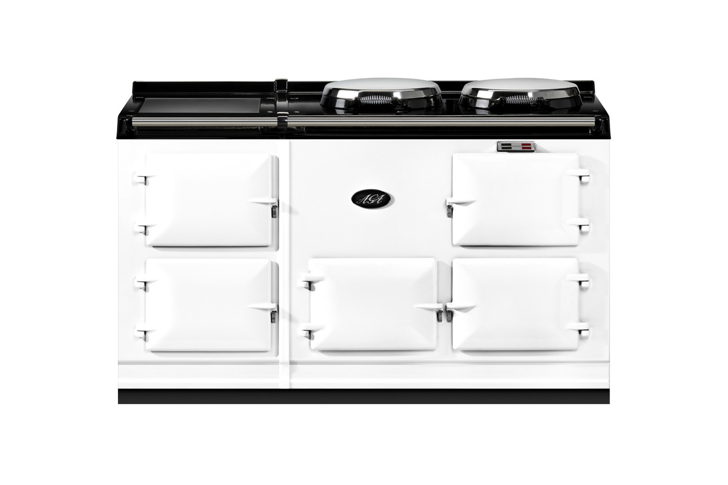 the aga r5 oven \150 oil white with stainless steel is available through aga di 14