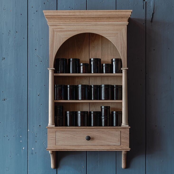 The prettiest spice storage ever? This spice dresser is from British store Berdoulat. See Shopper's Diary: The Last Word in English Artisanal Design at Berdoulat.