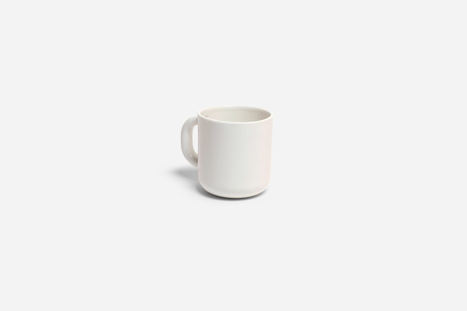 the felt + fat coffee cup in white is $37. 14