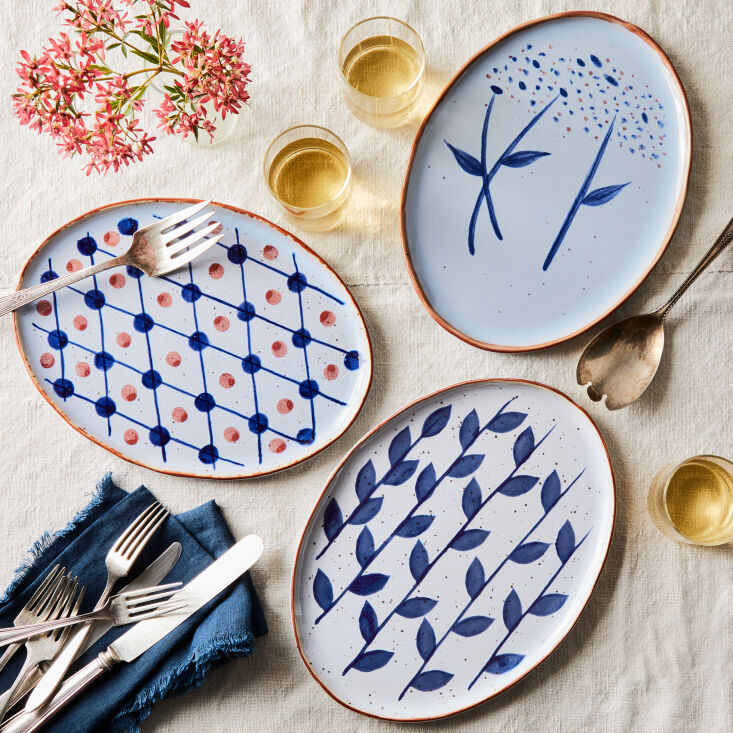 From Food5\2, hand-painted Dansk ceramics. See On Our Radar: Food5\2's New Trade Program for Design Professionals, Discounts Included.