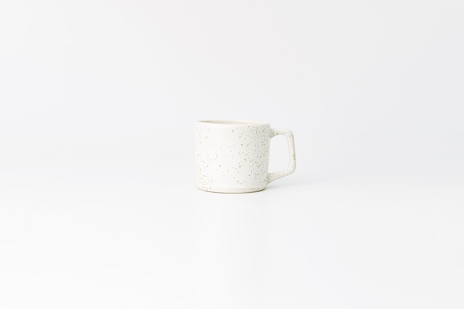 the haand 8 ounce short mug in birch (white with black spots) is $31 at haand. 12