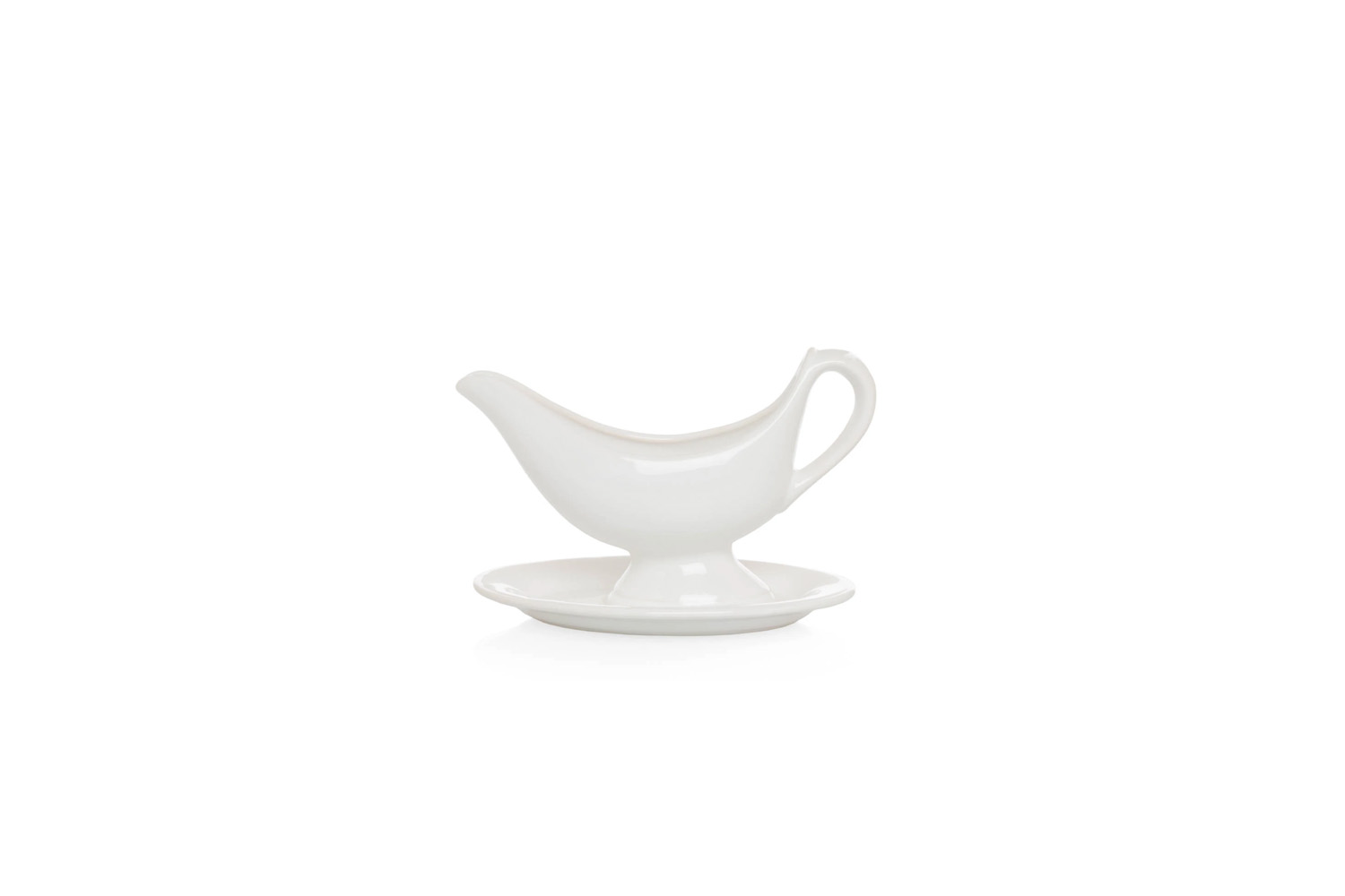the toscana sauce boat with plate is \$48 at hudson grace. 23