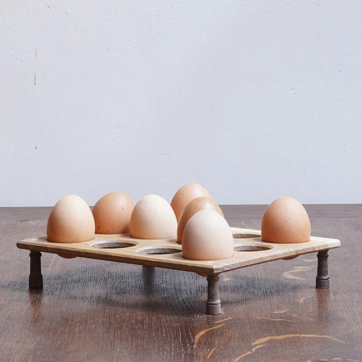modeled after an \18th century original, the berdoulat egg rack, £90, has an o 11