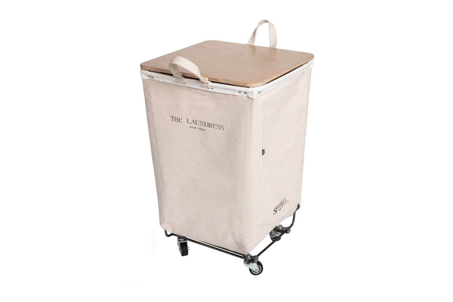 a riff off the steele classic, the laundress steele canvas single hamper with f 12