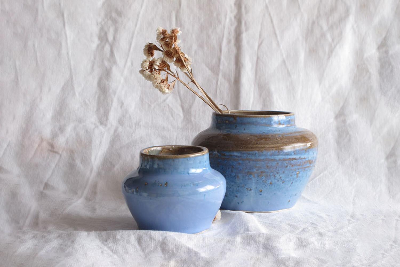 Margarida Fabrica Edicao Limitada Blue Vases