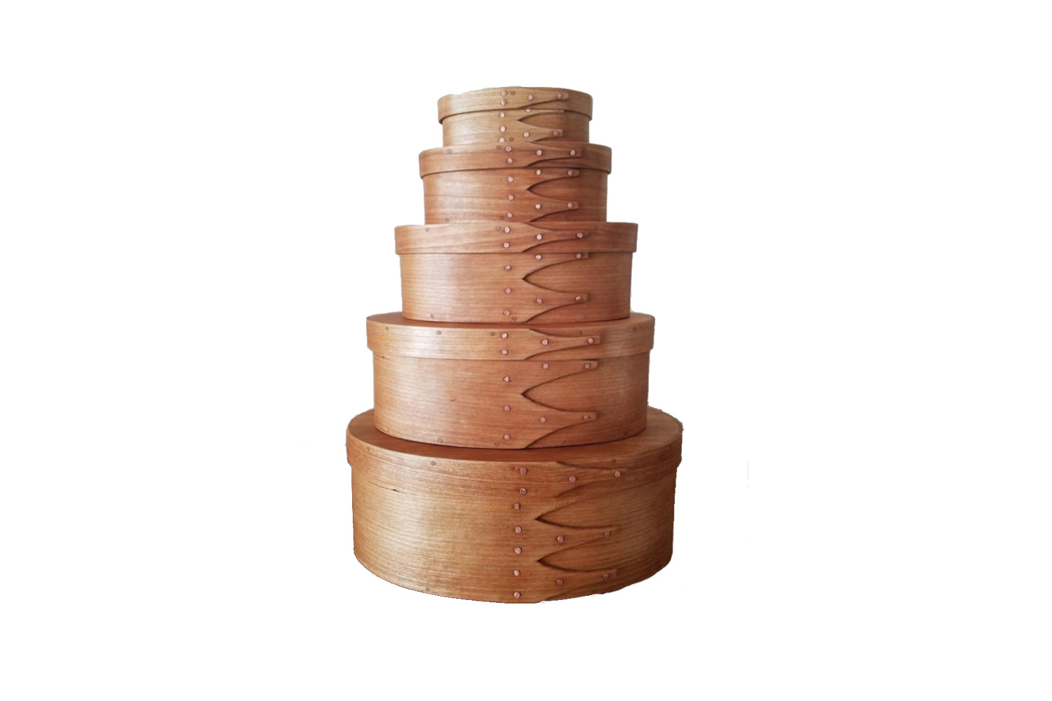 a set of 5 cherrywood shaker boxes is \$\165 from thistle dew woods on etsy. 26