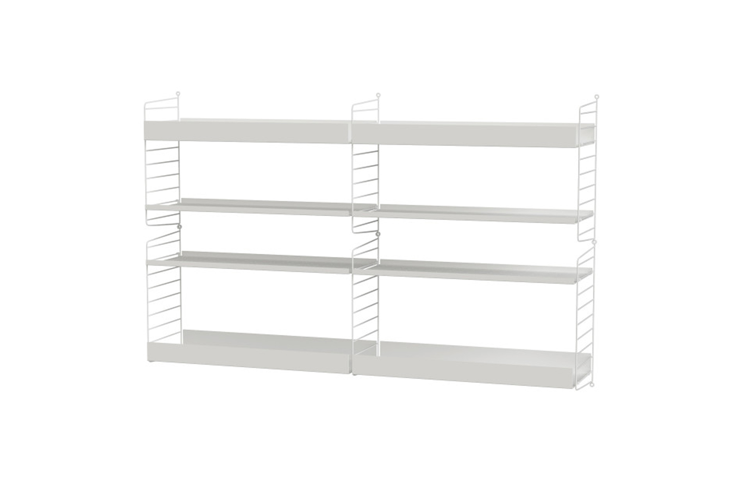 a custom shelf is from string furniture in sweden. shown here is the living roo 14