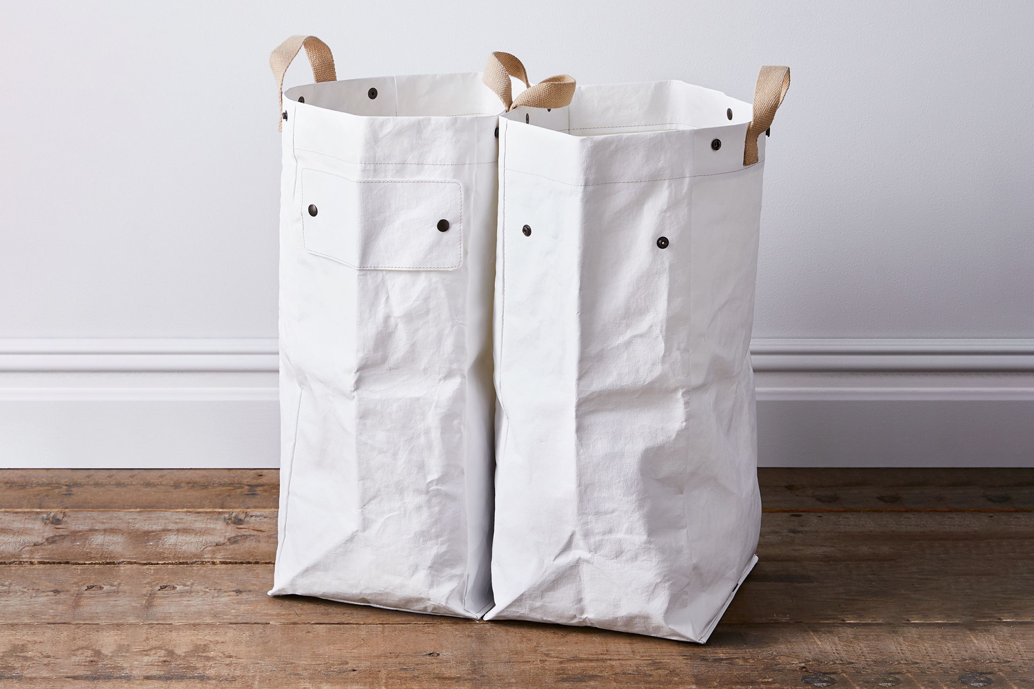 the uashmama modular snap separate laundry bags are $178 at food52. 16