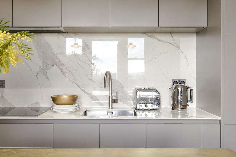 the splash back acts as a mirror. 12