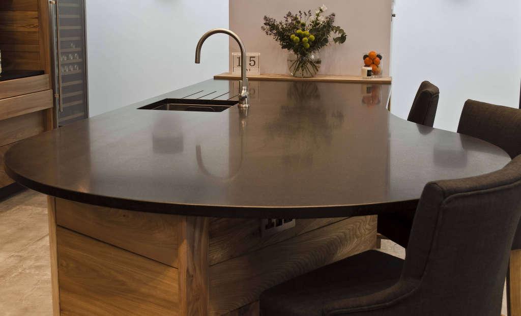 honed black granite breakfast bar 13