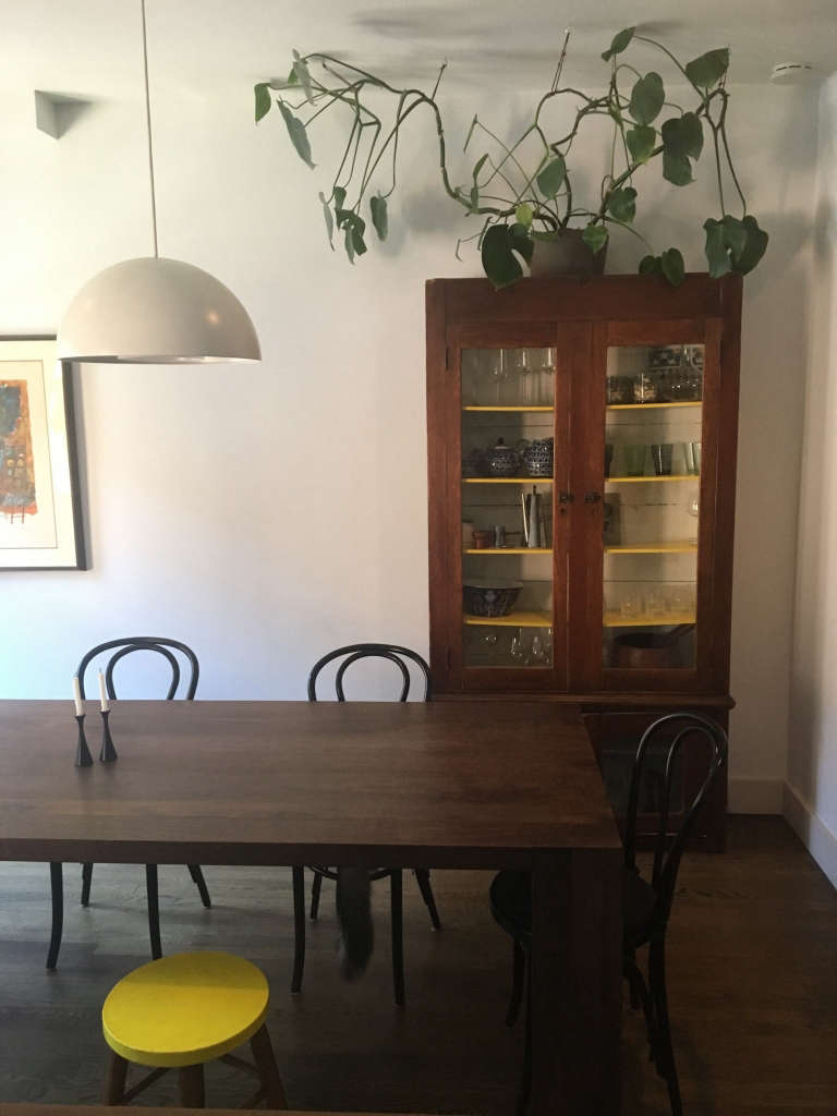 An Unconventional Former Convent in Sunnyside Gardens Queens Pa. Farmhouse Kitchen China Cabinet