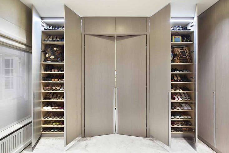 the entrance door to the master suite and the client's shoes collection. 16