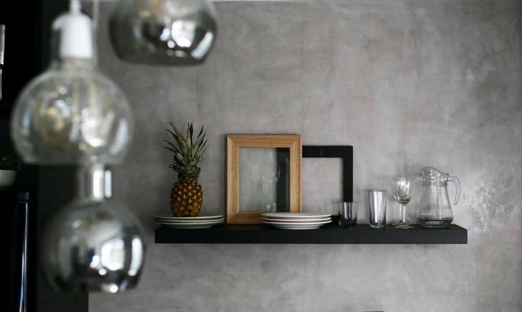 kitchen. marmorino. wood. glass. 9
