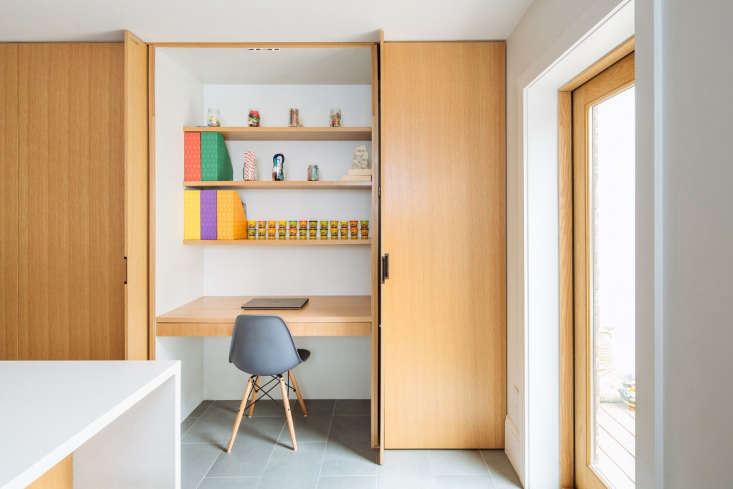 architect sonya leedesigned a small crafting station to be tucked behind cust 17