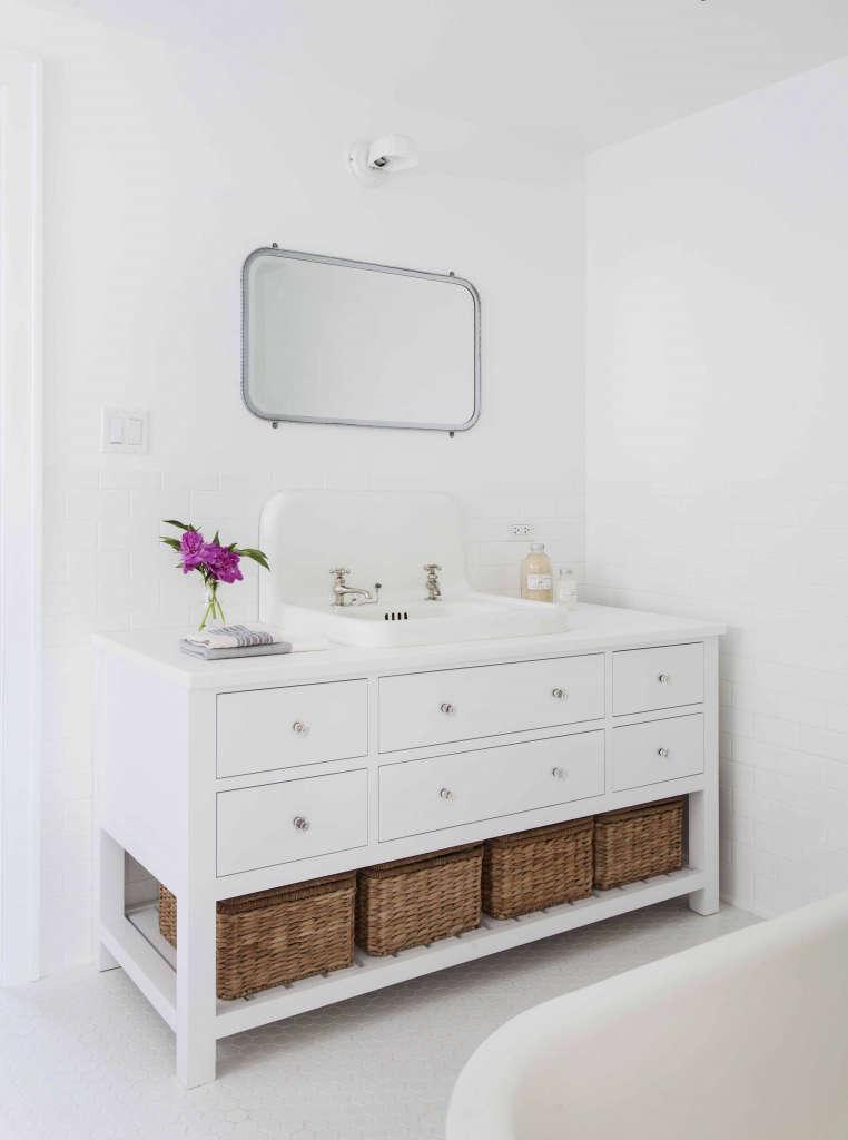 vintage sink and custom vanity 9