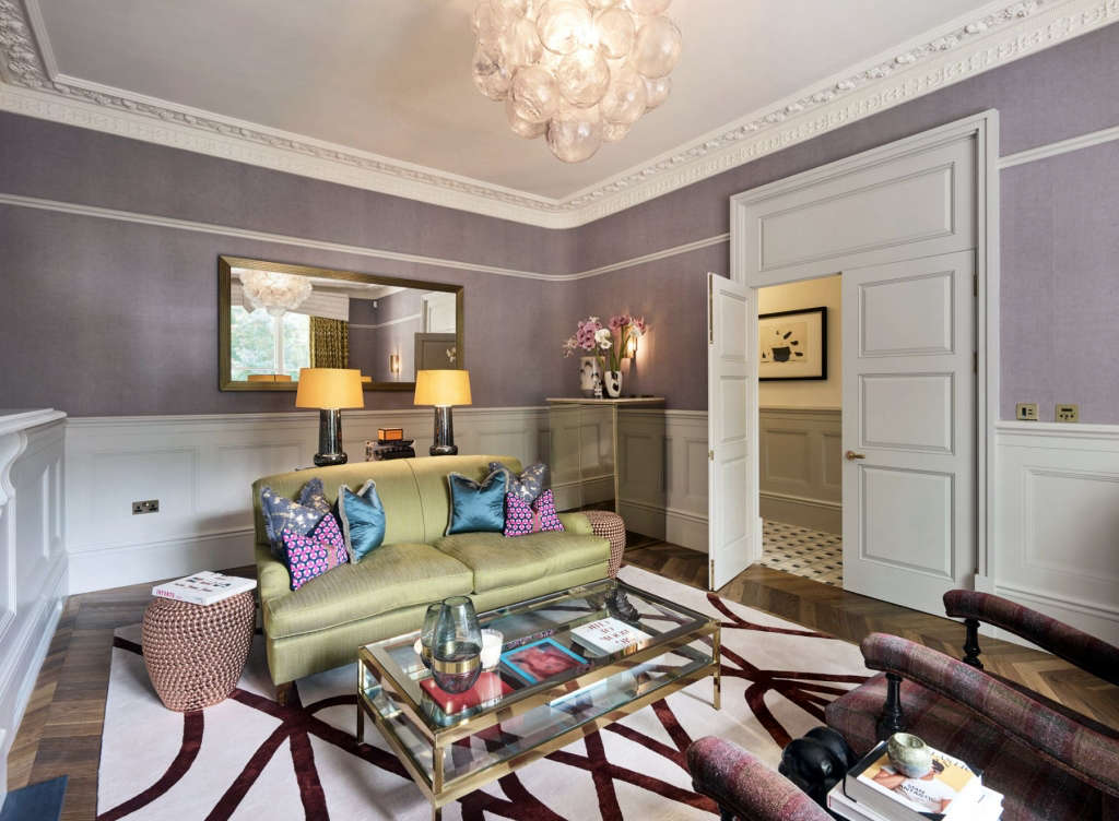 front sitting room north facing double doors 10