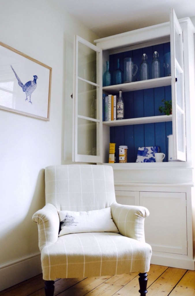 glazed china cabinet in the snug 17