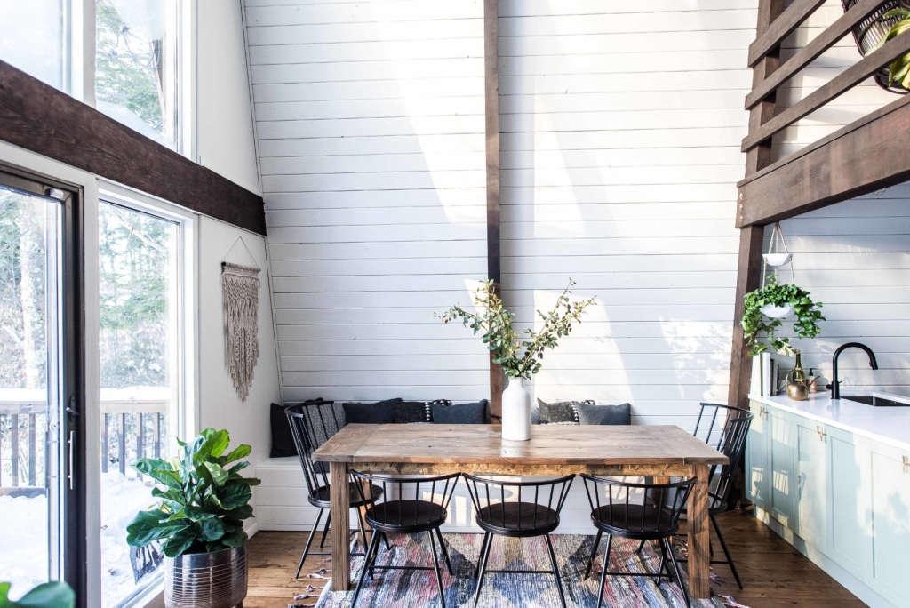 The Hunter Greenhouse  Catskills Mountain Retreat Dining area