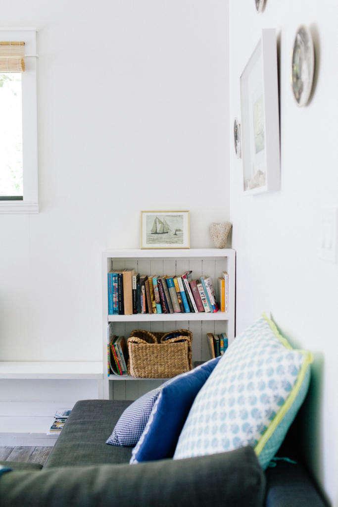 cozy nook with book shelf. 15