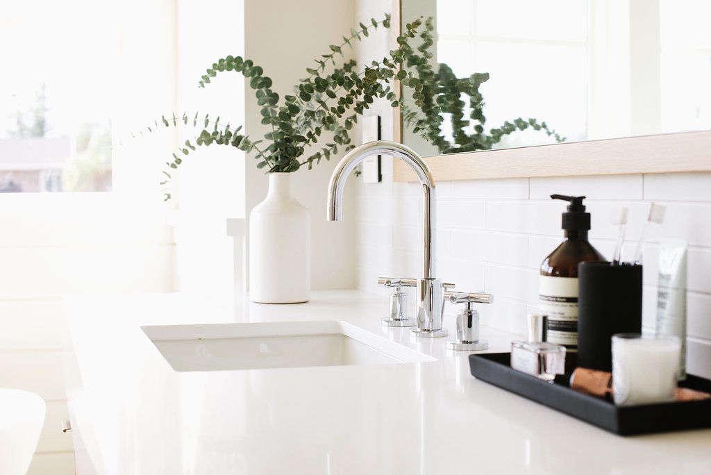 Modern Farmhouse Master Bathroom Modern Sink