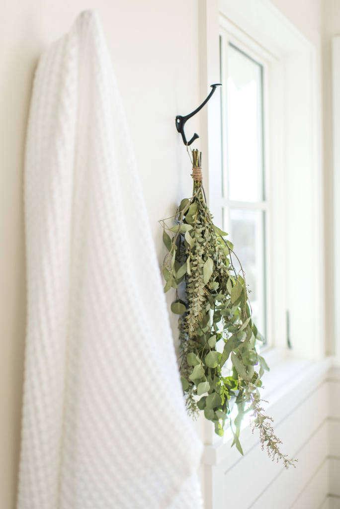 Modern Farmhouse Master Bathroom Eucalyptus Branches