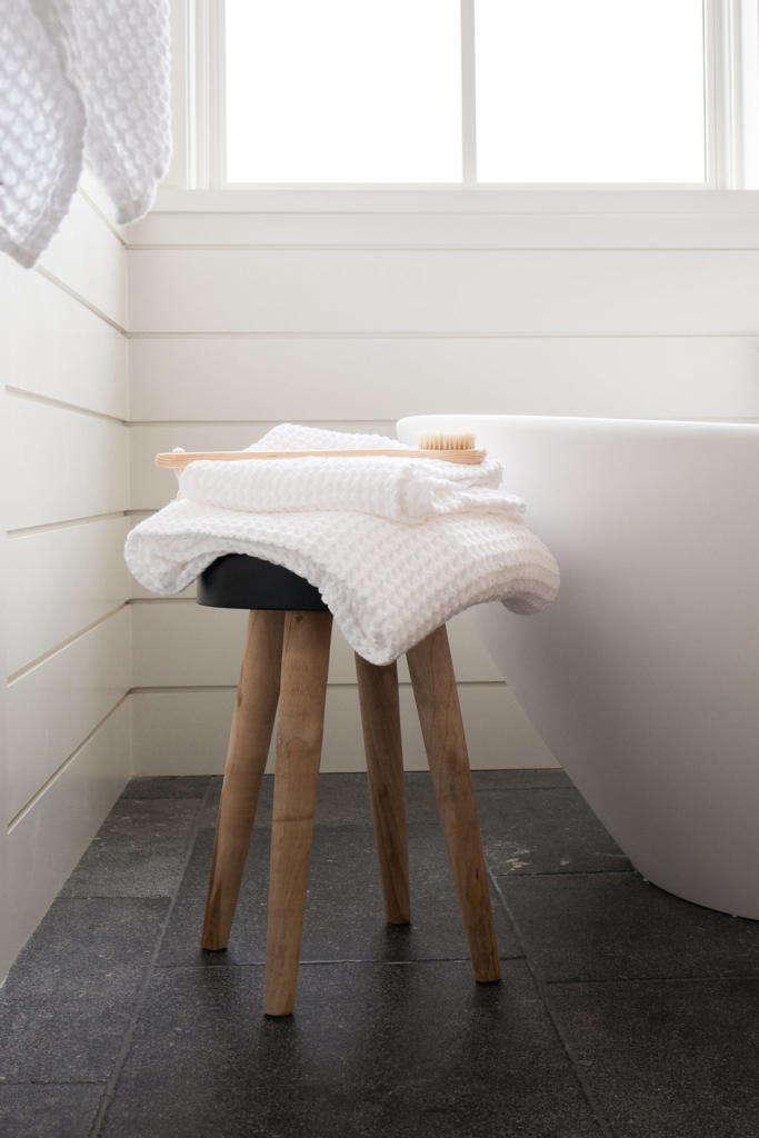 Modern Farmhouse Master Bathroom Stool