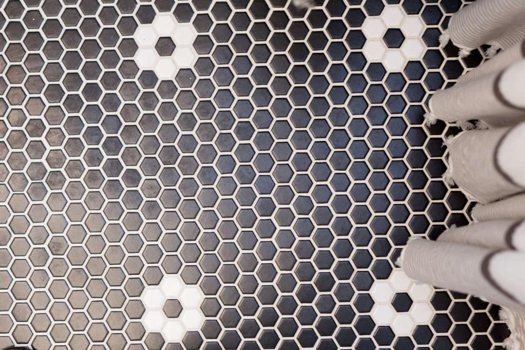 Craftsman Bungalow Guest Bathroom Remodel Floor Tile