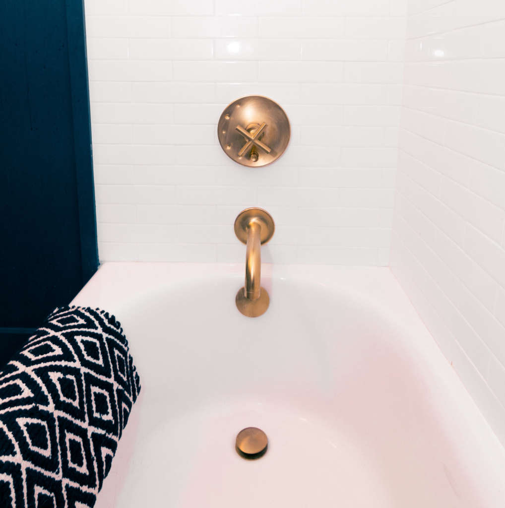 Craftsman Bungalow Guest Bathroom Remodel Bath Fixtures and Subway Tiles
