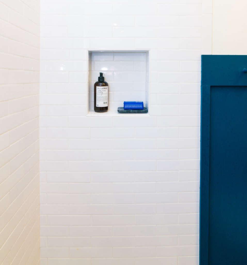 Craftsman Bungalow Guest Bathroom Remodel Shower Niche