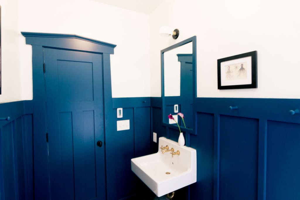 Craftsman Bungalow Guest Bathroom Remodel Mirror