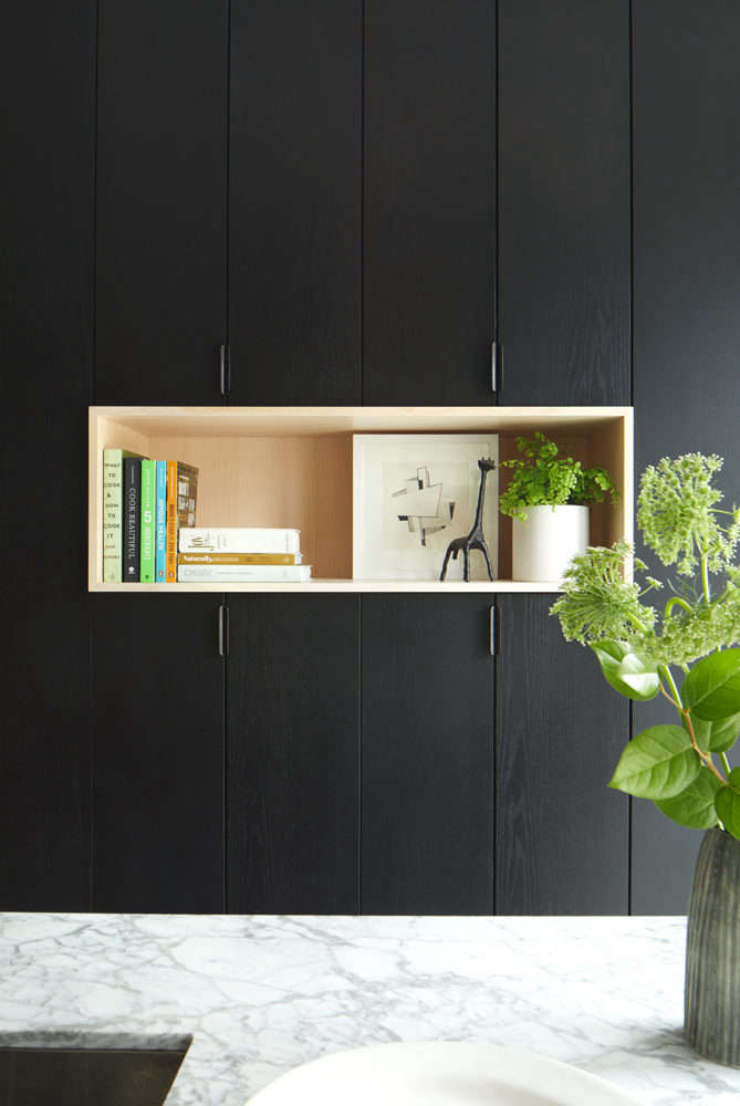 black stained cabinetry 12