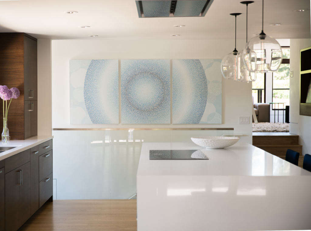 abstract art infuses the space with light 10