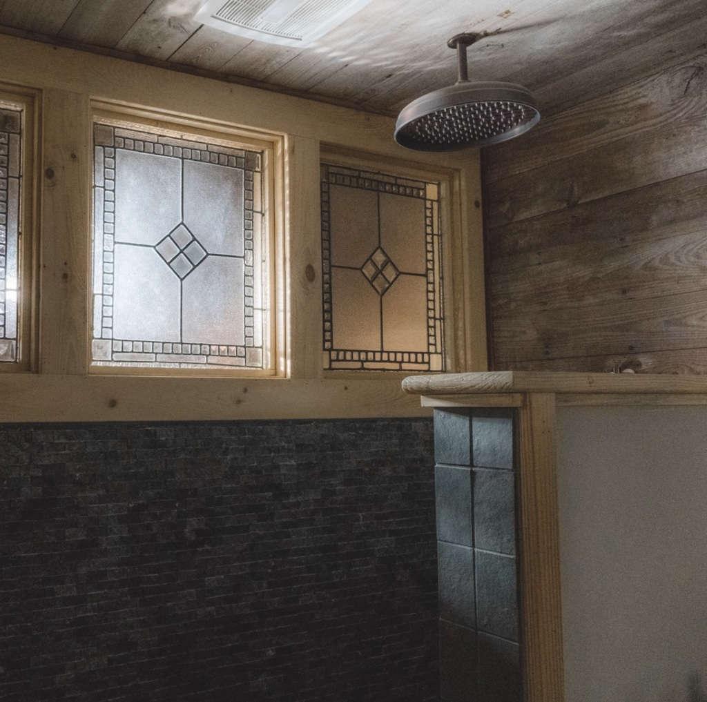 glen hollow guesthouse waterfall shower 14