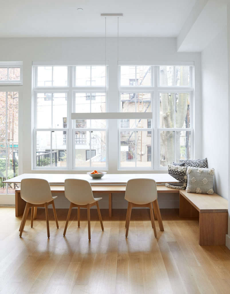dining area with custom bench 9
