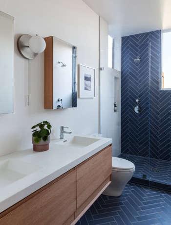 Cole Valley master bathroom design by SVK Interior Design