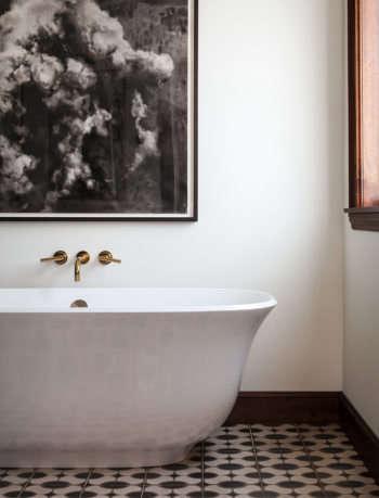 Monterey Heights Master Bathroom by SVK Interior Design