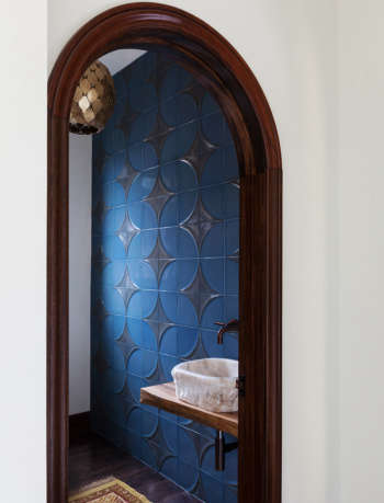 Monterey Heights Powder Room by SVK Interior Design
