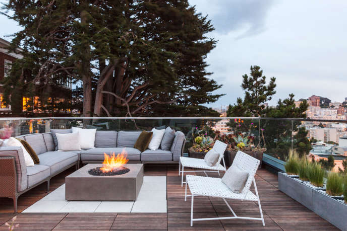 Russian Hill Roof Deck by SVK Interior Design